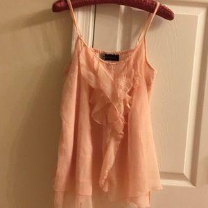 Beautiful spaghetti strap peach blouse size M